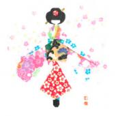 千代紙人形カード